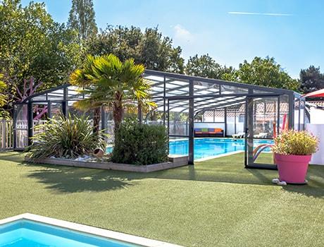 abri de piscine pour campings collection pros abri. Black Bedroom Furniture Sets. Home Design Ideas